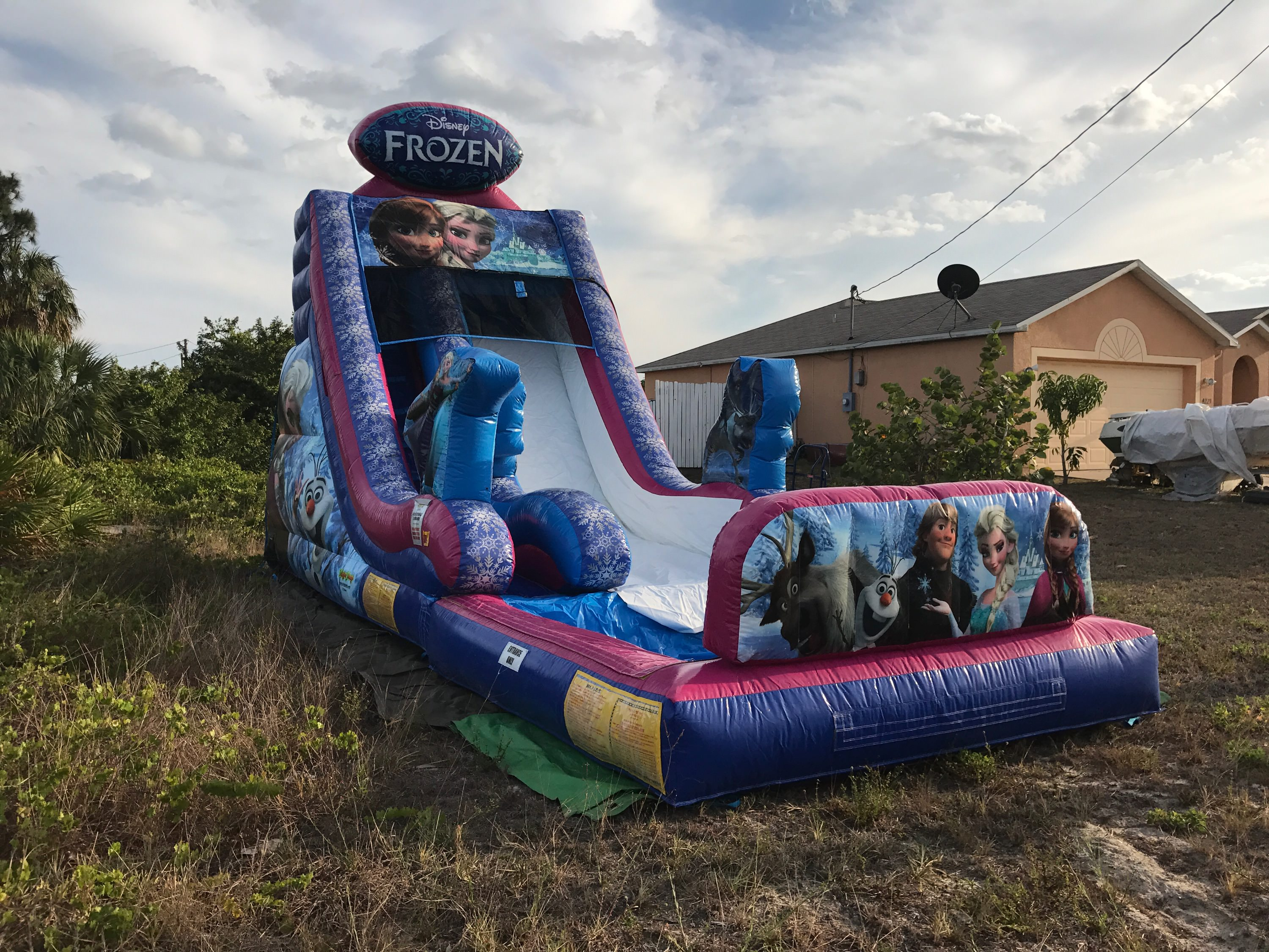 Frozen Disney Bounce House Water Slide