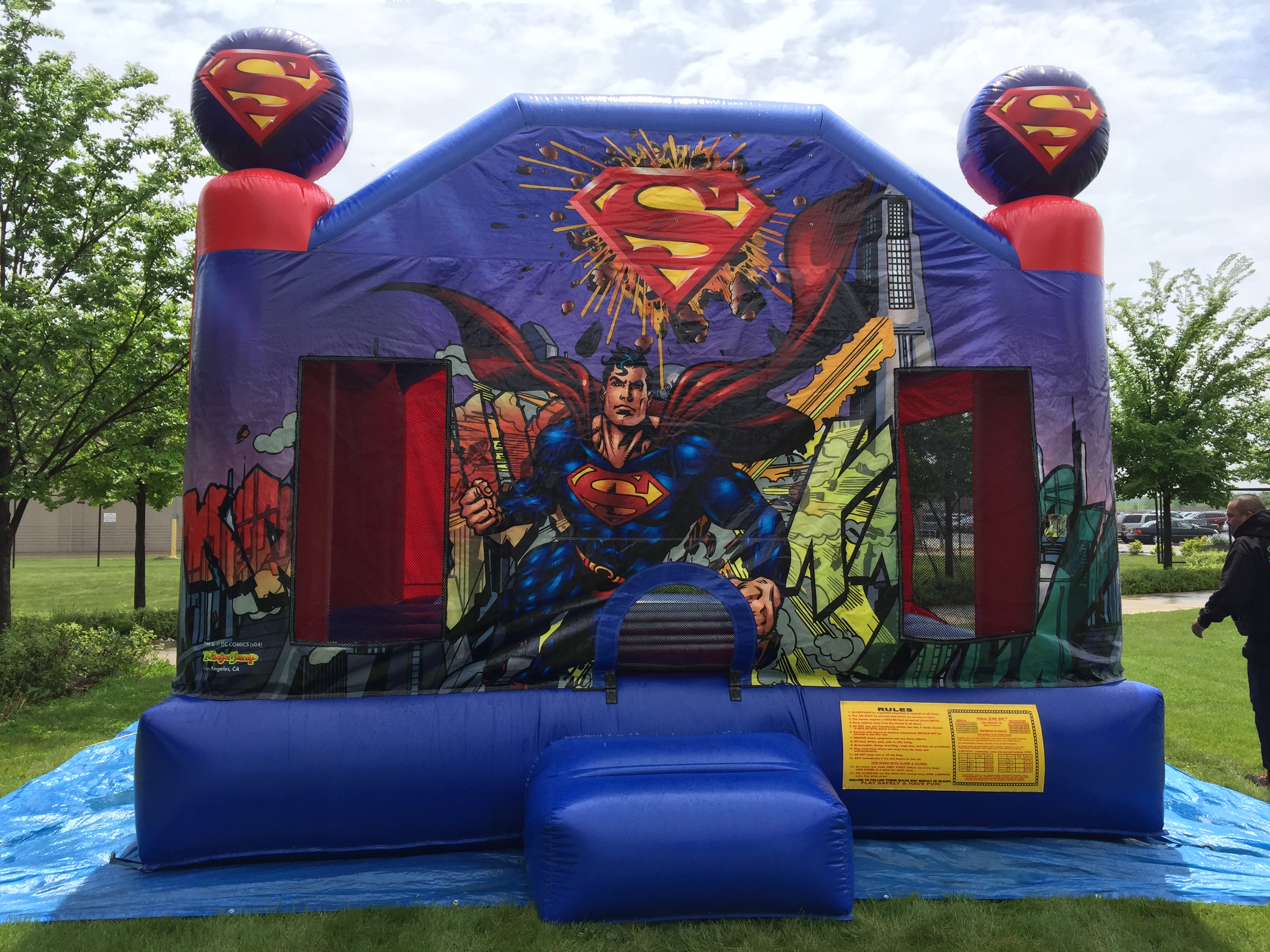 superman bounce house inflatable rental Cape Coral FL   Naples FL