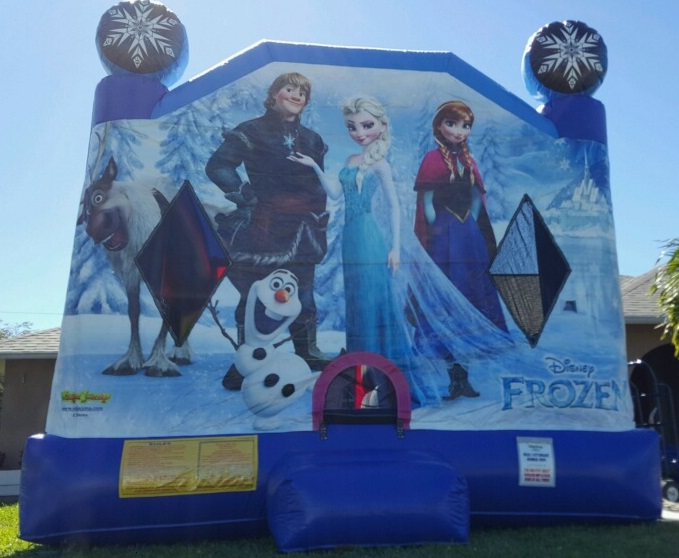 From the movie Frozen Themed Bounce House Rental | Ft Myers FL