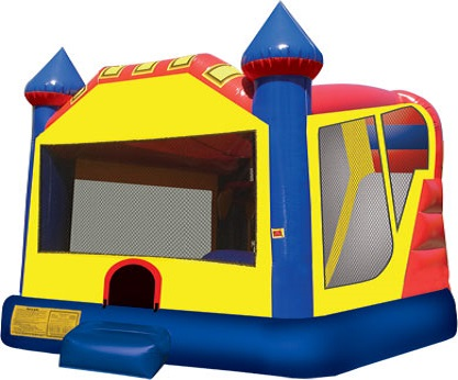 Castle combination bounce house and slide Rental Jumpie