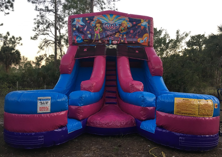 Dual Lane Water Slide Rental in Cape Coral   Ft Myers Florida