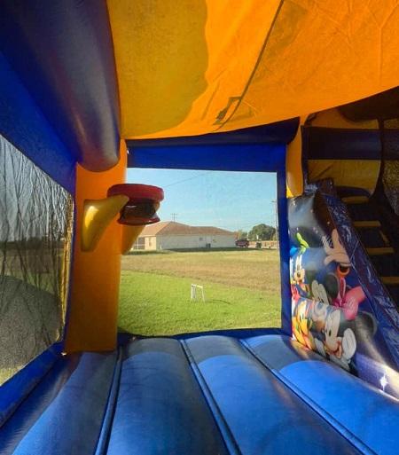 Disney Bounce House Rental Inside Slide & Hoop