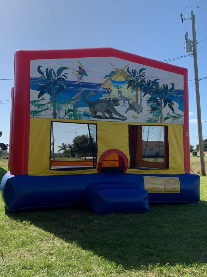 Dinosaur themed bounce house rental in cape coral fl