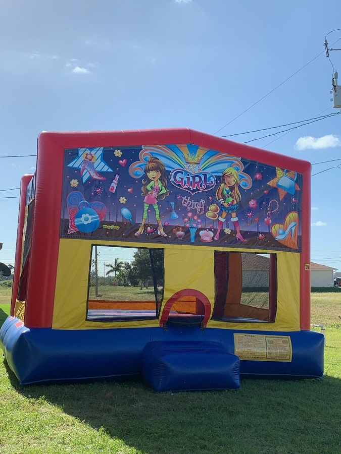 Girl themed bounce house rental   Cape Coral   Ft Myers FL