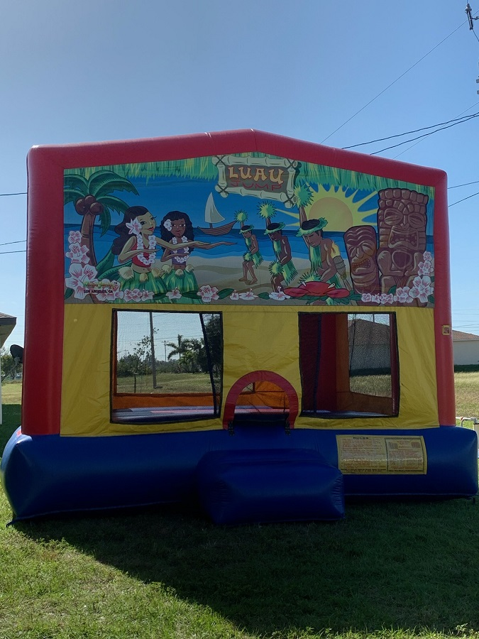 Lauu themed bounce house rental   Ft Myers   Cape Coral