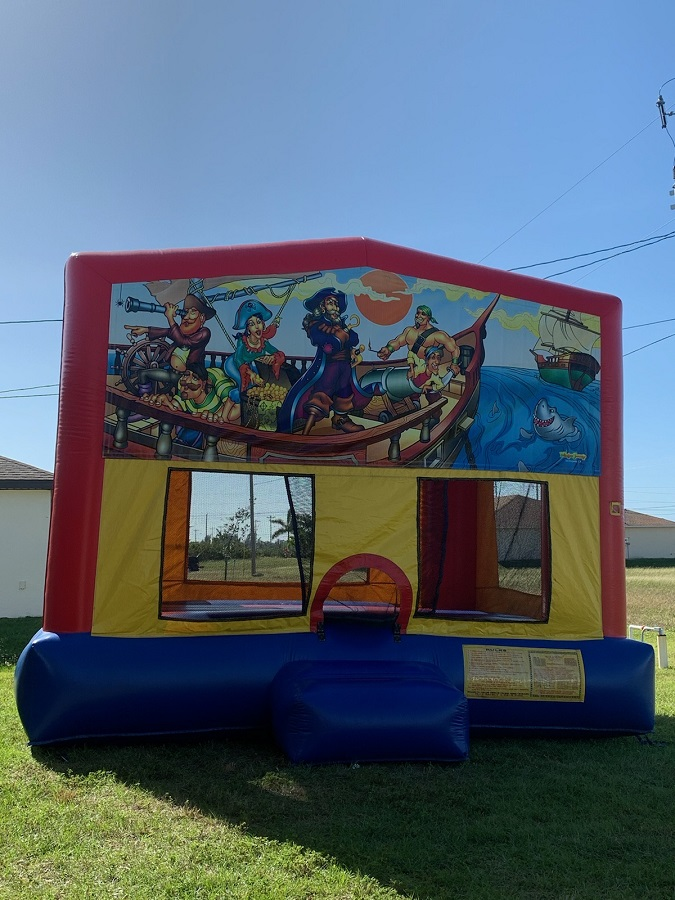Pirate Captain Themed Bouncie House Rental in Cape Coral or Ft Myers