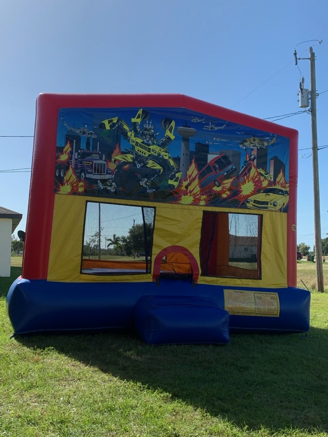Transformer Robot Themed Bounce House Rental in Cape Coral Florida
