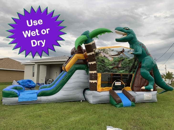 Dino themed bounce house rental Cape Coral Ft Myers