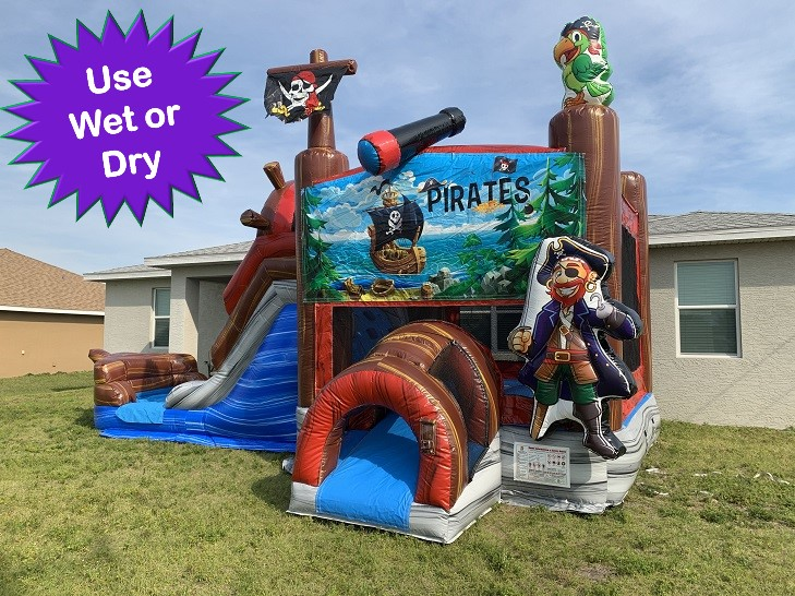 Pirate Themed Bounce house water slide rental Cape Coral FL