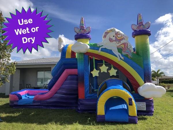 Rainbow Combo Bounce house rental Ft Myers FL