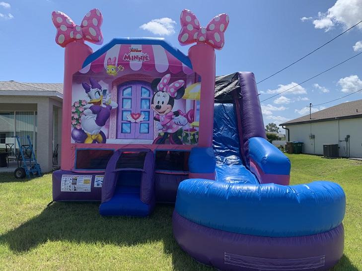Disney Minnie Bounce House Water Slide Rental Ft Myers FL