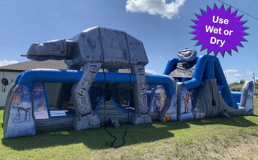 Star Wars Bouncie House Rental Obstacle course Coral Springs FL