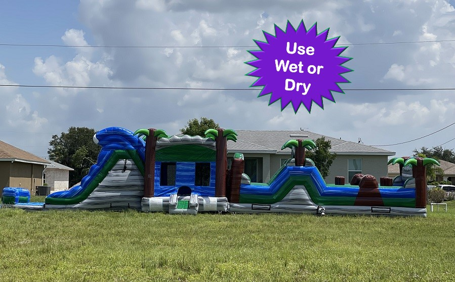 Tropical Wave Obstacle Course Rental